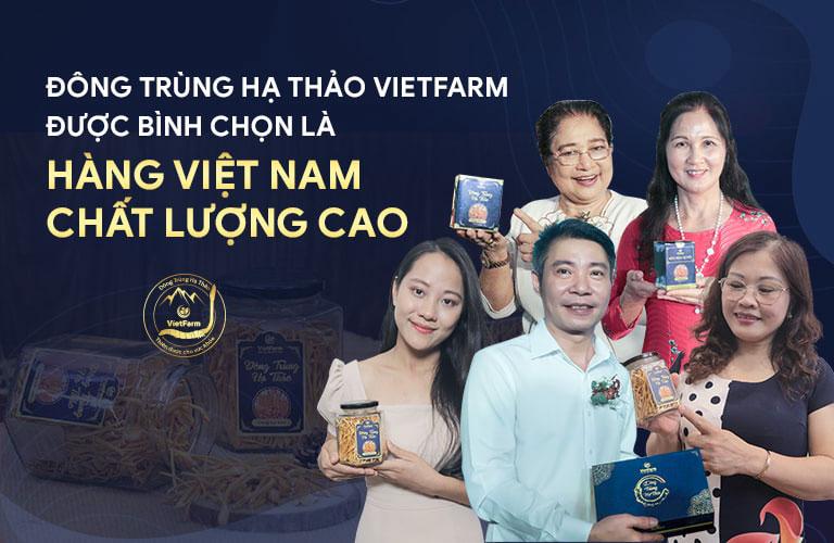 Đông đảo nghệ sĩ, diễn viên bình chọn đông trùng hạ thảo Vietfarm là thương hiệu uy tín hàng đầu hiện nay