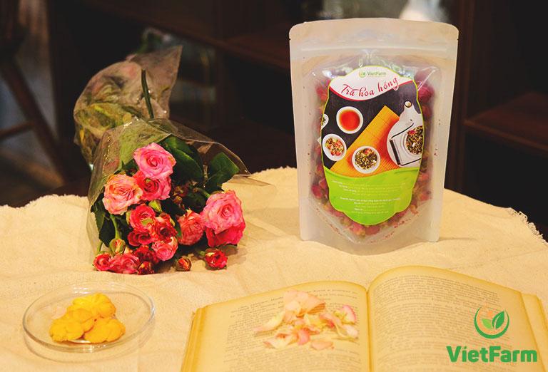Trà hoa hồng Vietfarm ngọt ngào ngay lần thưởng trà đầu tiên