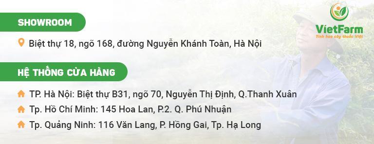 Showroom và hệ thống đại lý của trung tâm Vietfarm