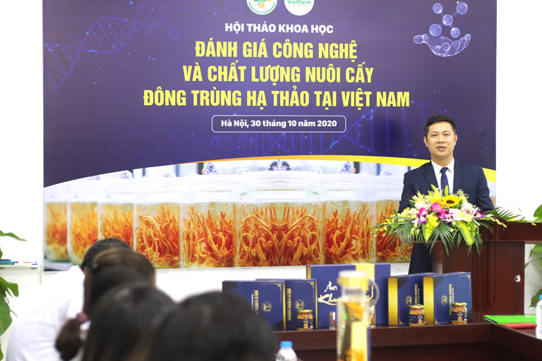 Ông Nhâm Quang Đoài - GĐ trung tâm Vietfarm phát biểu tại hội thảo