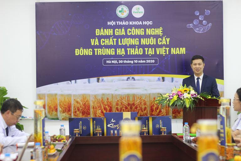 Ông Nhâm Quang Đoài phát biểu tại buổi hội thảo