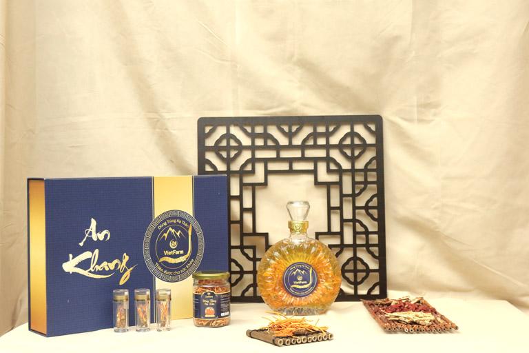 Set quà An Khang mang giá trị nhân văn được trưng bày tại hội thảo