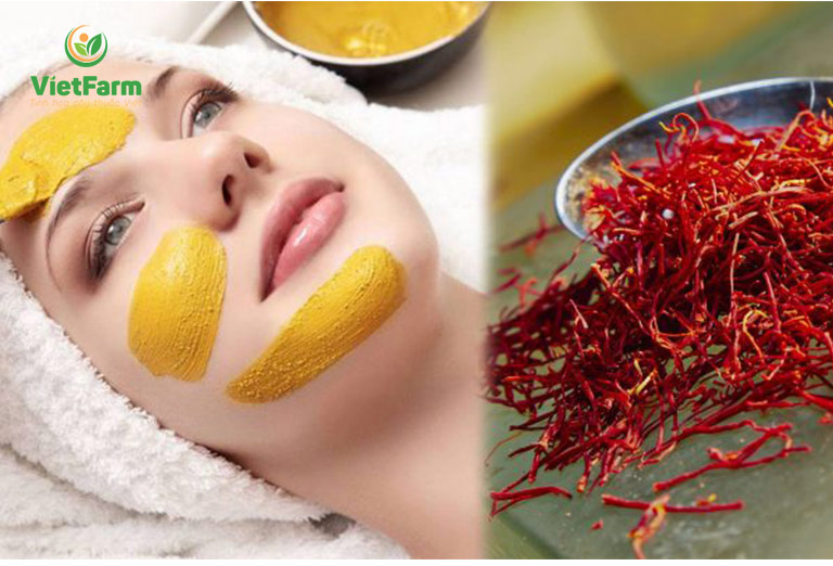 Saffron có công dụng rất tốt giúp chị em chăm sóc làn da mịn màng, tươi trẻ