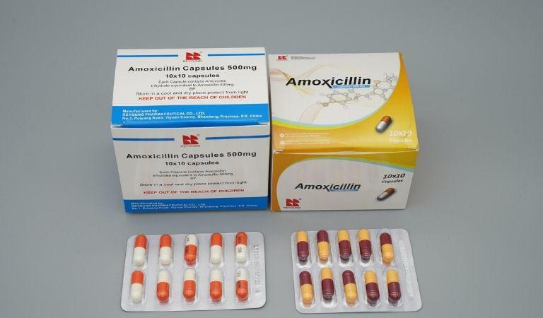 Thuốc đặc trị viêm amidan hốc mủ Amoxicillin