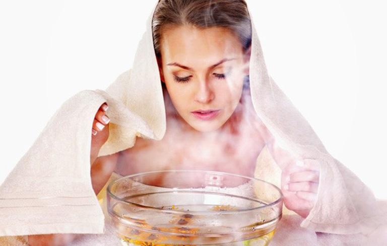 Xông hơi giúp điều trị nghẹt mũi và viêm xoang nhức đầu