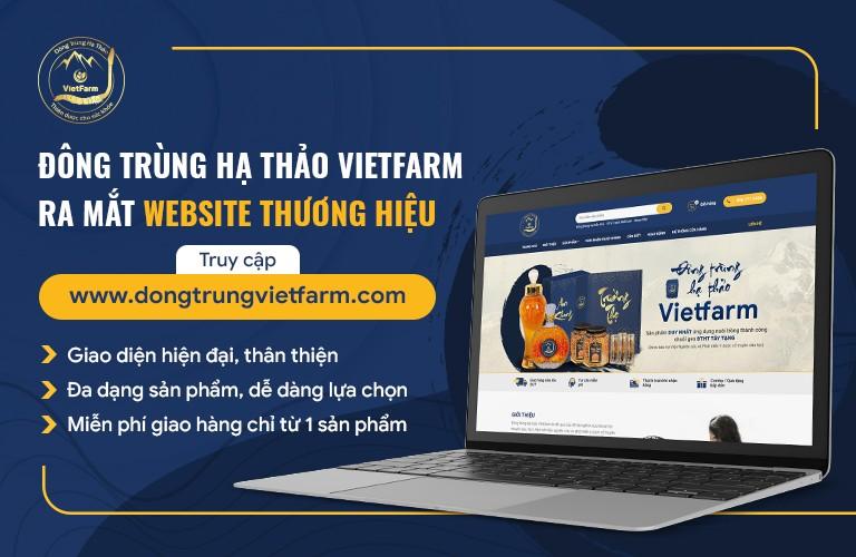 Website Đông trùng hạ thảo Vietfarm