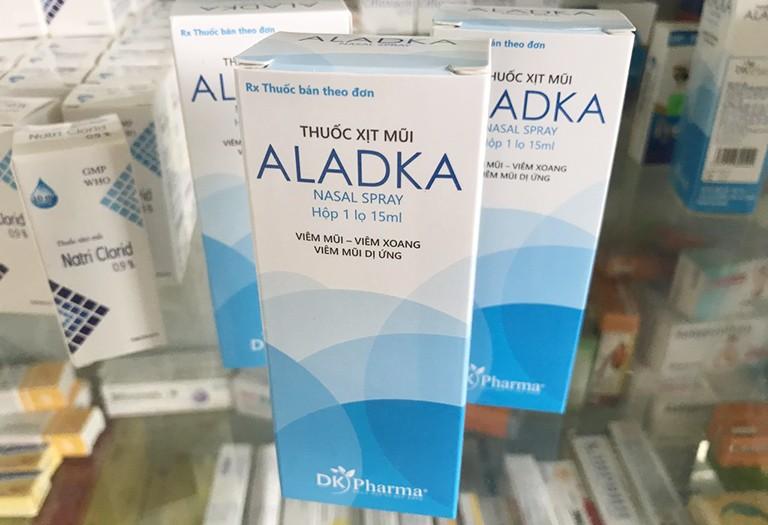 Thuốc xịt mũi trị viêm xoang Aladka luôn được các bác sĩ đánh giá cao về chất lượng
