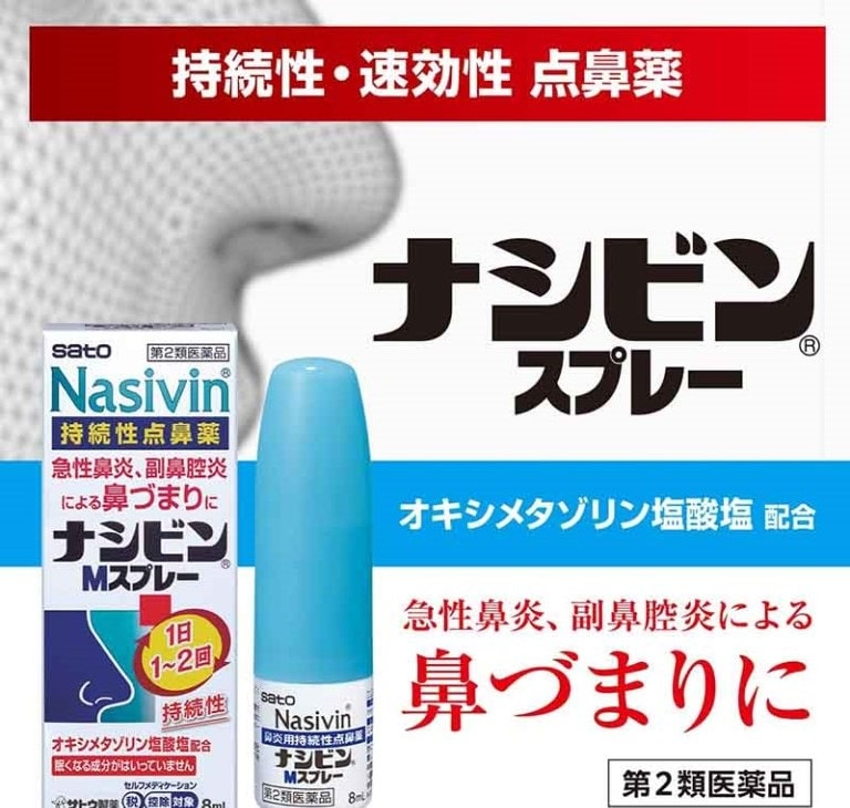 Thuốc xịt mũi chữa viêm xoang Nasivin có tác dụng nhanh