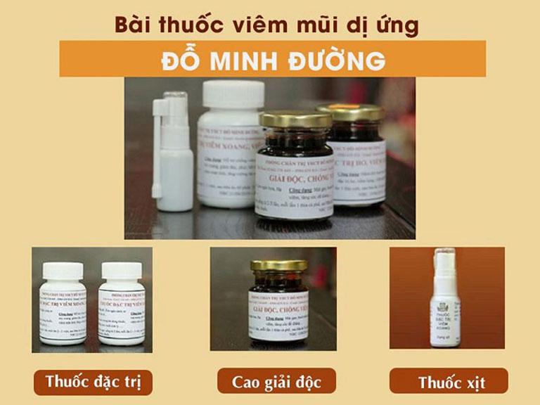 Liệu trình thuốc chữa viêm mũi dị ứng của nhà thuốc Đỗ Minh Đường