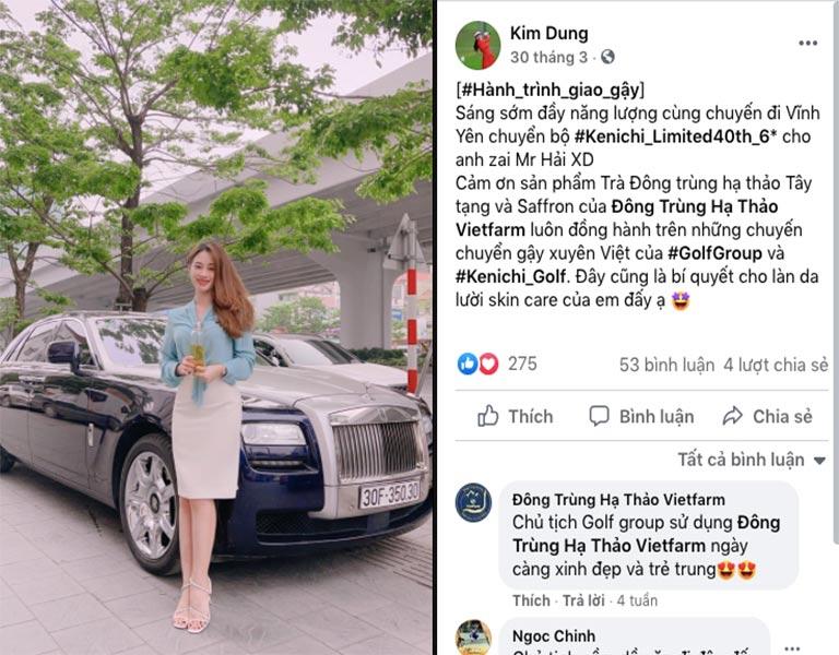 Nữ chủ tịch tập đoàn GolfGroup chia sẻ bí quyết trên trang Facebook cá nhân
