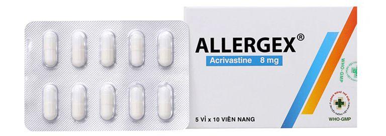 Thuốc trị viêm mũi dị ứng Acrivastine
