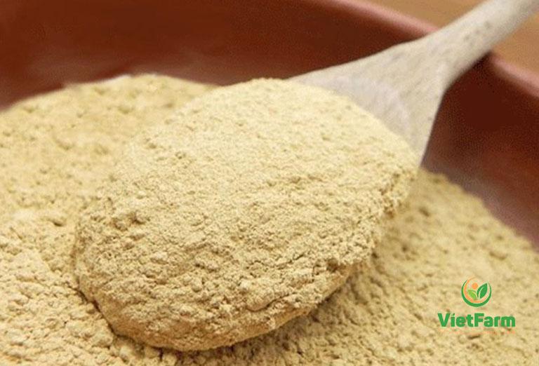 Dược liệu đã được nghiền thành bột mịn, dễ sử dụng và bảo quản