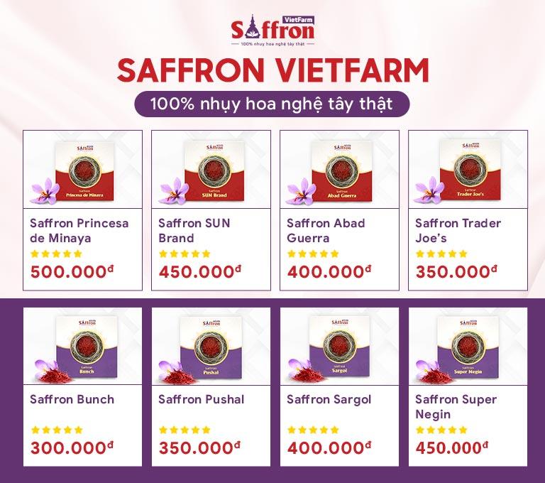 Các sản phẩm cao cấp từ Saffron Vietfarm