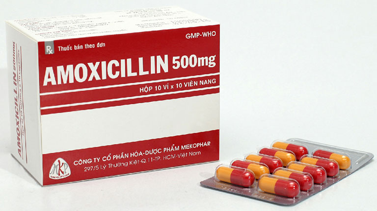 Thuốc trị viêm họng Amoxicilin