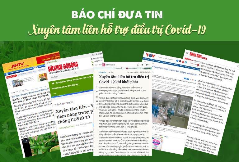 Nhiều trang báo chính thống, website Bộ Y Tế đăng tải thông tin xuyên tâm liên hỗ trợ điều trị Covid