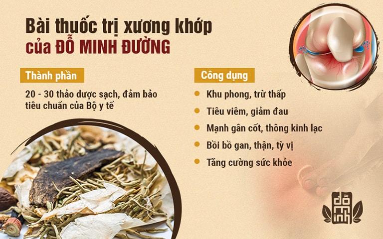 Bài thuốc Xương khớp Đỗ Minh đã áp dụng 150 năm nay