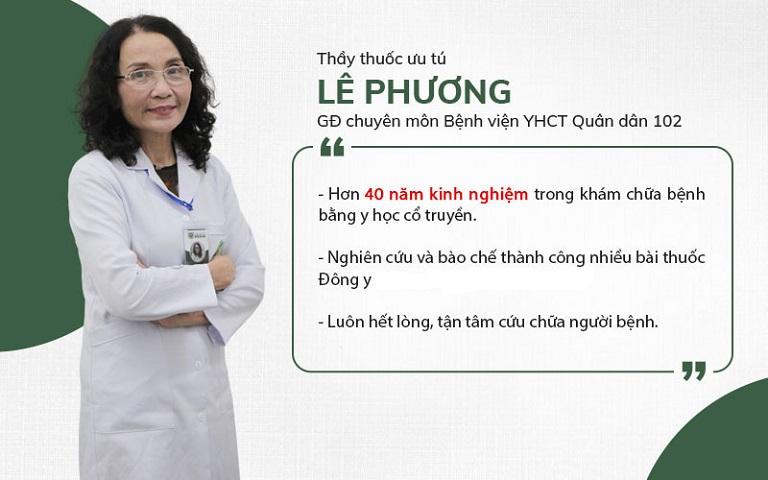 Bác sĩ Lê Phương - Giám đốc Tổ hợp Y tế cổ truyền Biện chứng Quân dân 102