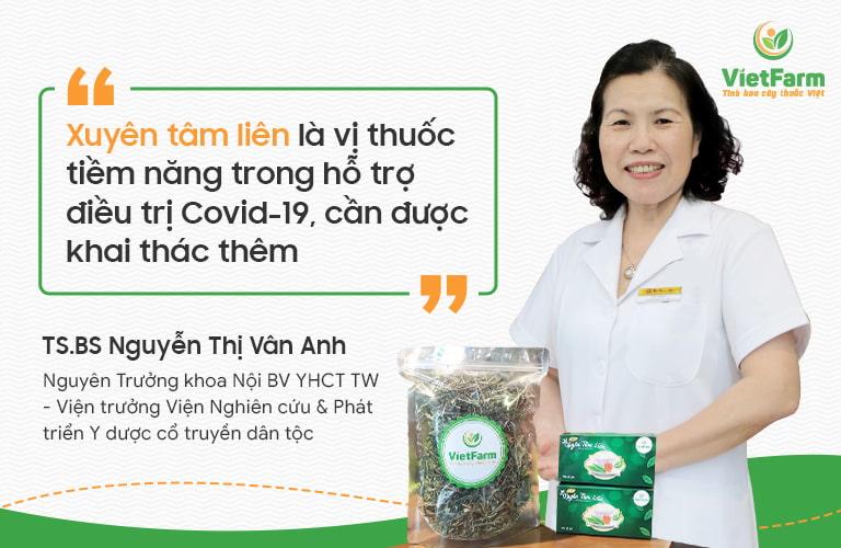 BS Vân Anh đánh giá cao công dụng của vị thuốc YHCT xuyên tâm liên