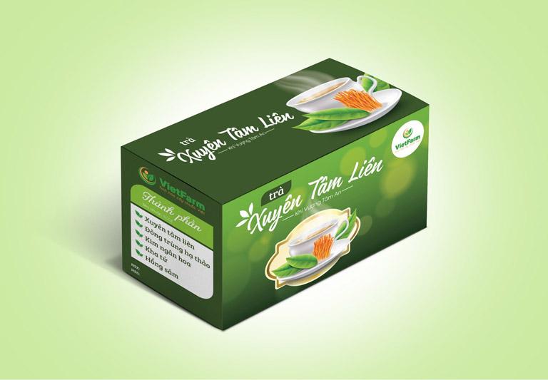 Sản phẩm trà túi lọc xuyên tâm liên Vietfarm