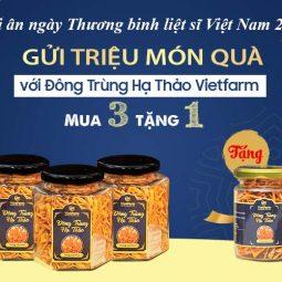 Chương trình ưu đãi, gửi tặng món quà sức khỏe ý nghĩa của Đông trùng hạ thảo Vietfarm