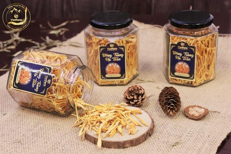 Sản phẩm Đông trùng hạ thảo Vietfarm sấy khô sợi nấm