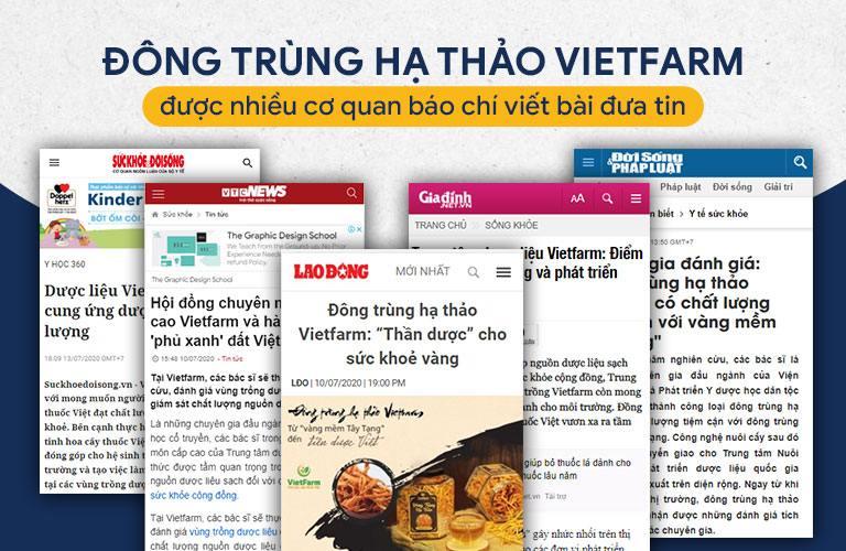 Báo chí đưa tin về Đông trùng hạ thảo Vietfarm