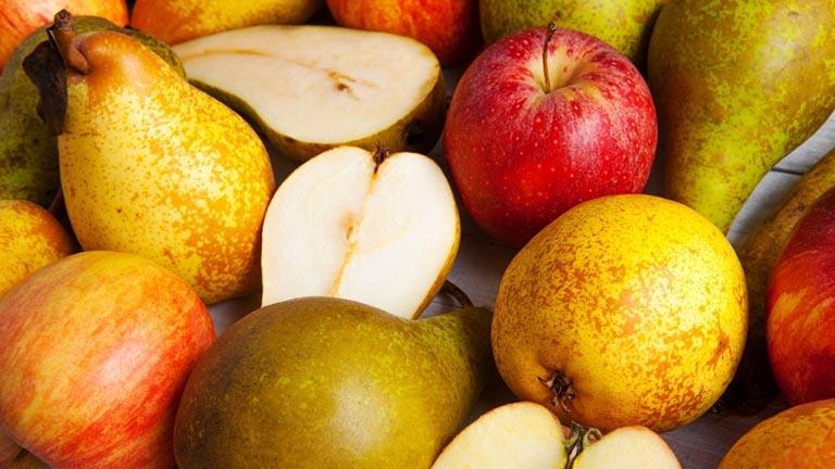 Quả táo, lê tốt cho bệnh nhân bị trào ngược