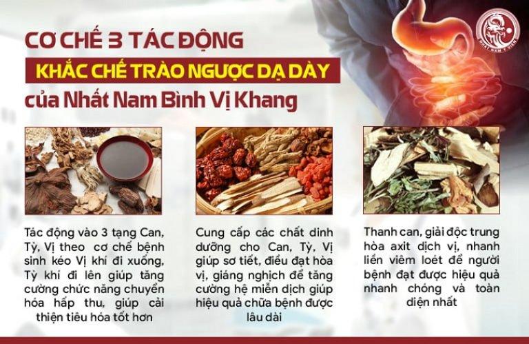Cơ chế 3 tác động đặc trị dạ dày của Nhất Nam Bình Vị Khang