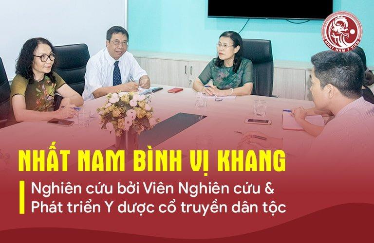 Nhất Nam Bình Vị Khang được phát triển bởi đội ngũ y bác sĩ tại Viện NCT & PT Y dược cổ truyền dân tộc