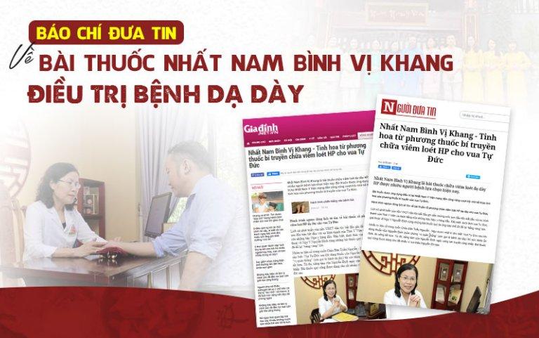 Báo chí đưa tin về bài thuốc