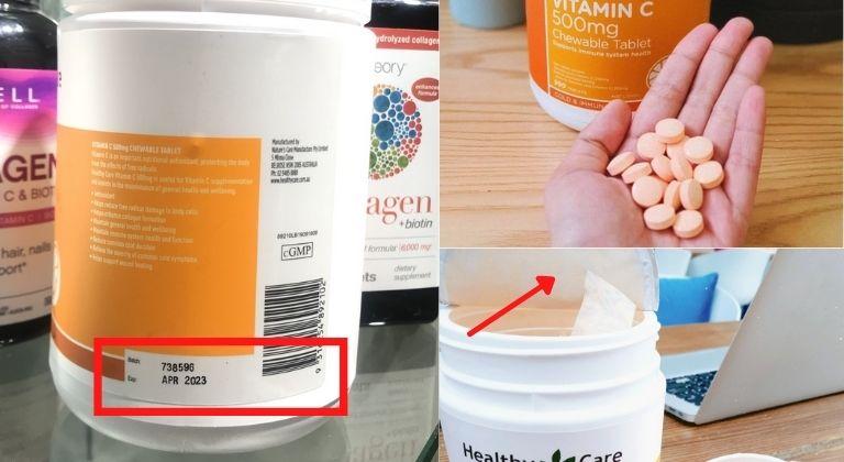 Các dấu hiệu nhận biết Healthy Care Vitamin C thật