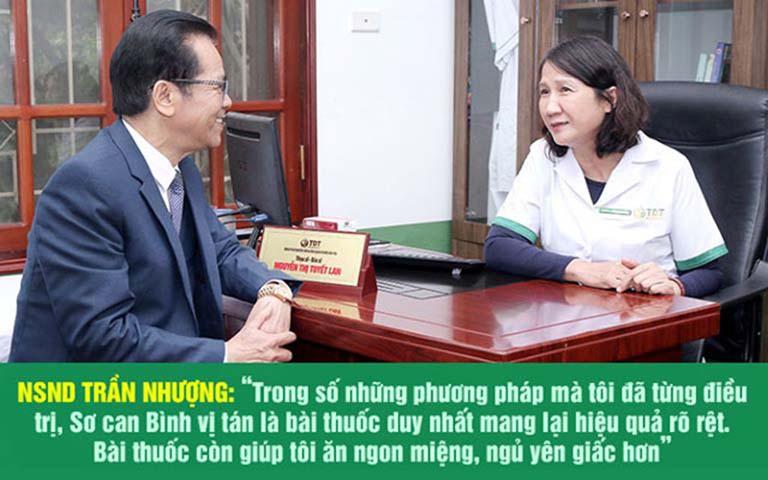 Nghệ sĩ Trần Nhượng chữa khỏi bệnh dạ dày tại Thuốc dân tộc