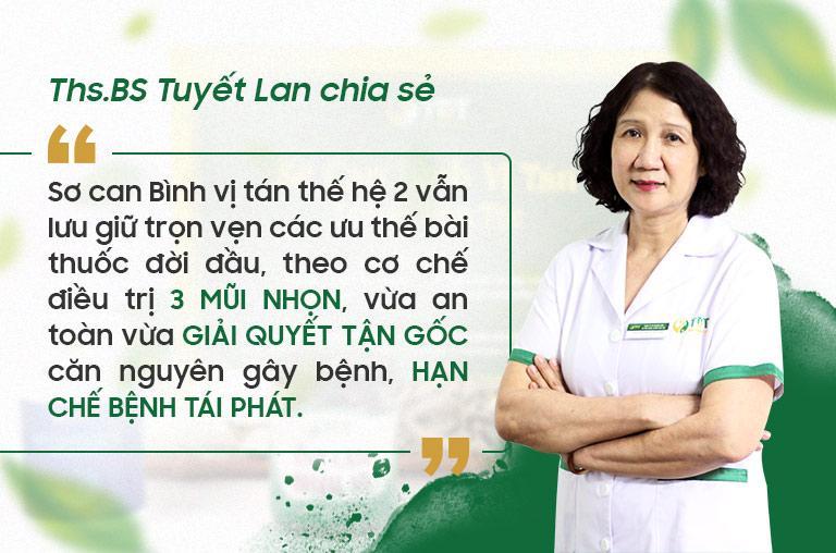 BS Tuyết Lan đánh giá Sơ can Bình vị tán