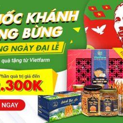 Chương trình tri ân khách hàng bạt ngàn ưu đãi nhân dịp Quốc Khánh 2/9 từ Trung tâm dược liệu Vietfarm - Phần quà trị giá hàng triệu đồng