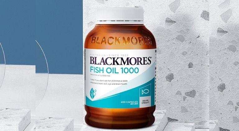 Viên uống dầu cá Blackmores Fish Oil 1000mg có thể sử dụng cho người đang bị mụn