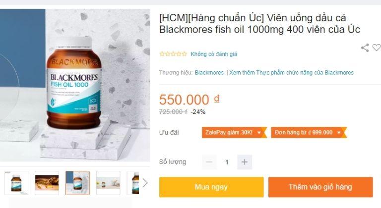 Sản phẩm được bán tại nhiều trang thương mại điện tử