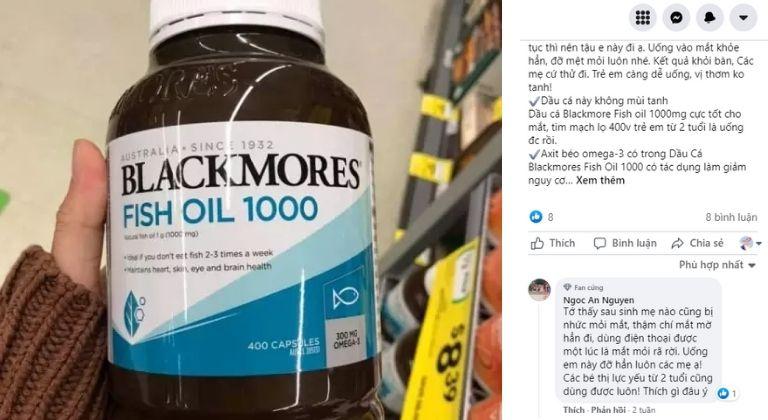 Người dùng ghi nhận hiệu quả của viên uống dầu cá Blackmores khá tốt