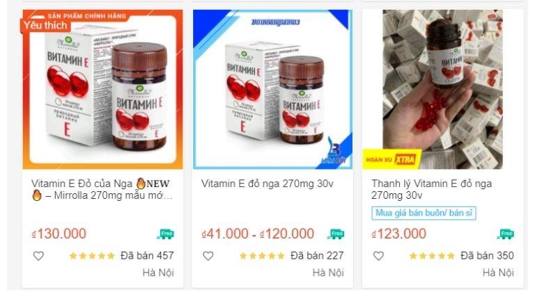 Người dùng có thể mua trên các trang thương mại điện tử