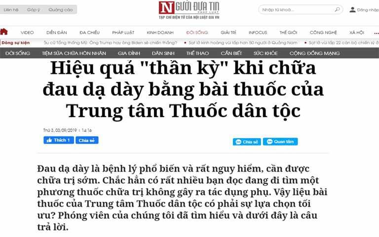 Báo Người đưa tin và bài đăng về Sơ can Bình vị tán