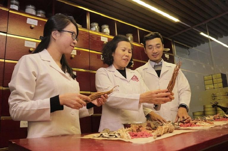 Bác sĩ Nguyễn Thị Vân Anh cùng cộng sự nghiên cứu, lựa chọn dược liệu cho bài thuốc