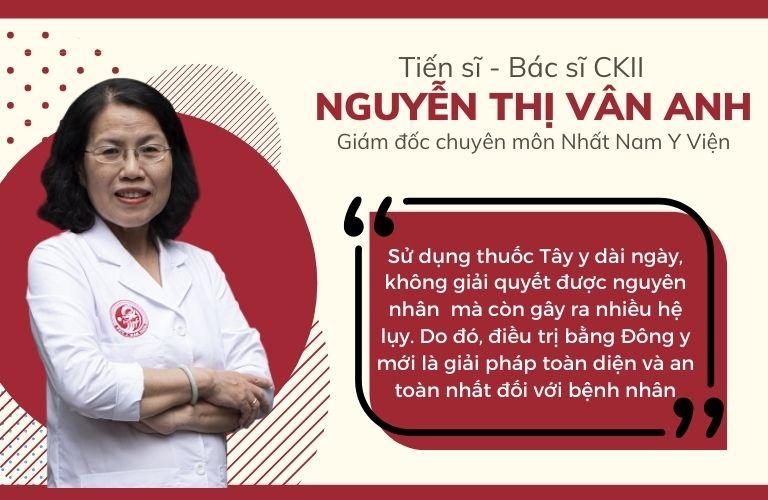 Tiến sĩ, bác sĩ Nguyễn Thị Vân Anh - một chuyên gia rất nổi tiếng có hơn 40 năm kinh nghiệm chữa bệnh dạ dày