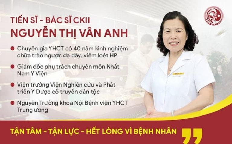 TS.BS Nguyễn Thị Vân Anh người có hơn 40 năm kinh nghiệm điều trị bệnh dạ dày