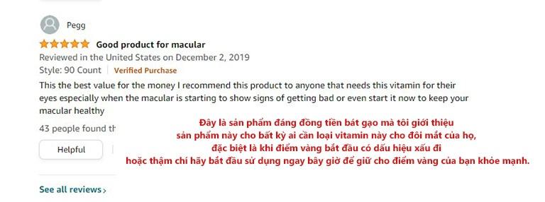 Bình luận trên Amazon