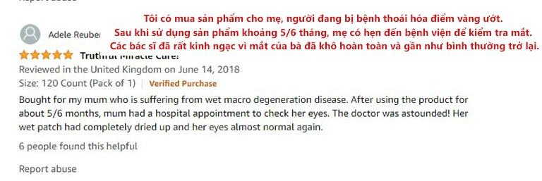 Bình luận từ khách hàng trên Amazon