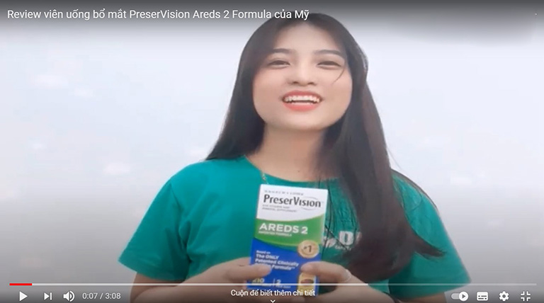 Review Preservision Areds 2 Formula trên Youtube