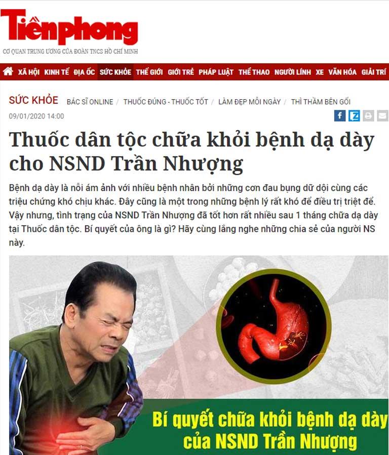 Sơ can Bình vị tán review trên báo bởi ns Trần Nhượng
